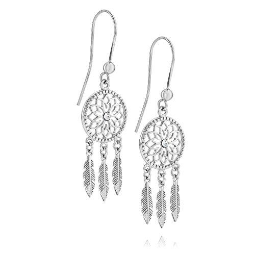 Lilly Marie Mujer de Plata Pendientes Plata de ley Original Swarovski Elements atrapasueños joyas de bolsas, regalo Cumpleaños Mujer