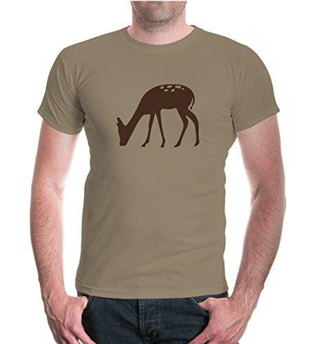 buXsbaum® T-Shirt Ricke-Tier-Silhouette Khaki-Brown
