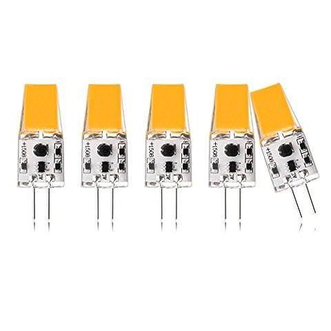 G4 LED Lampe, THled 5X G4 LED LED Lampe Warmweiß, 3W, 300LM, Ersetzt 30W Halogenlampe, AC/DC 12V, G4 LED Lampe Birne