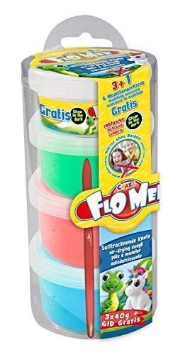 CRAZE FLO MEE + CLOUD SLIME Modellier-Masse Kugelknete buntfarben neon metallic Knete