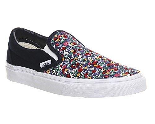 Vans U Classic Slip-on Overwashed, Unisex-Erwachsene Sneakers Dress Blue/Multi Floral Exclusive