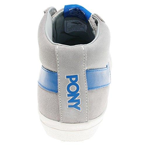PONY - Topstar Suede HI - Basket montante Homme Gris / Bleu