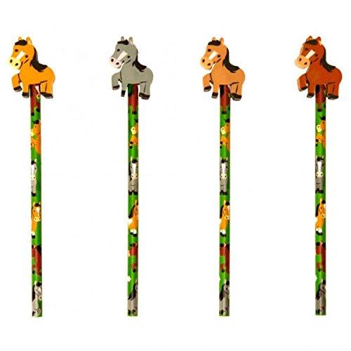 trendaffe Pferd Bleistift mit Radiergummi - Pony Schreibstift