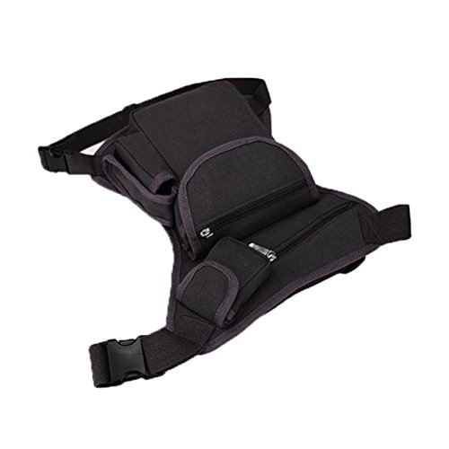 Firelong multiuso Drop Leg bag marsupio tela sport borsa marsupio da corsa da ciclismo marsupio moto equitazione Edc bag Sling Pack, Black coffee