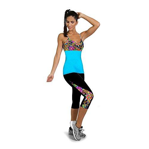 Culater® Femmes Pantalon de Sport Taille haute Fitness Yoga Stretch Pantalon Court Noir