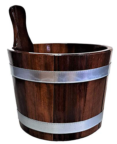 SudoreWell Saunakübel aus Kambalaholz