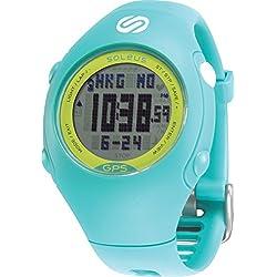 Soleus GPS - Mini reloj de corredor con monitor de actividad física y de salud, cerceta/verde lima