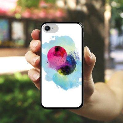 Apple iPhone X Silikon Hülle Case Schutzhülle Wasserfarbe Kunst Klecks Hard Case schwarz