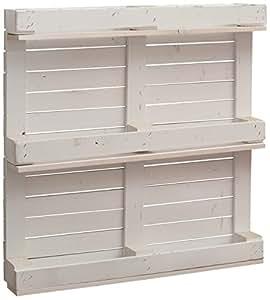 castagnetti 1928 mensola 3 piani con sponde finitura pallet legno abete bianco. Black Bedroom Furniture Sets. Home Design Ideas