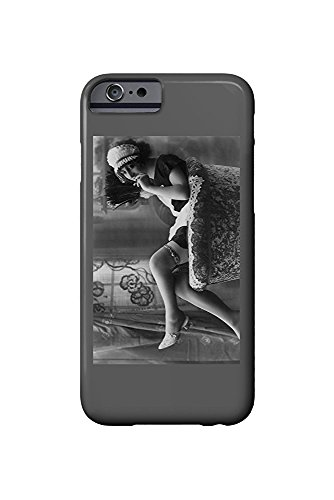 h Maid Outfit Smoking and Sitting- Vintage Photograph (iPhone 6 Cell Phone Case, Slim Barely There) ()