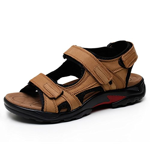 Herren Leder Sandalen Sommer Strandschuhe Atmungsaktive Pantoffeln Kausale Schuhe