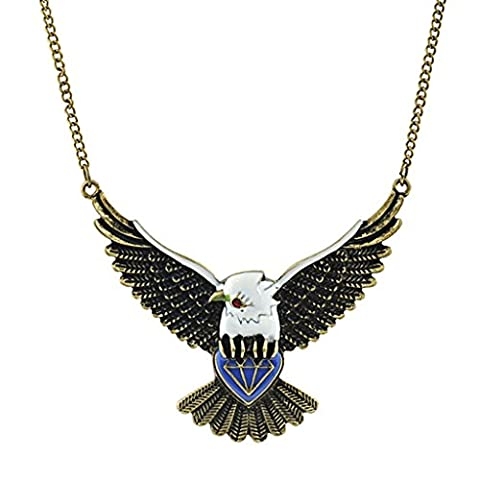 Eagle Native American Indian Inspired Pendant Necklace Long Sweater Chain Women Girls Gift Eagle