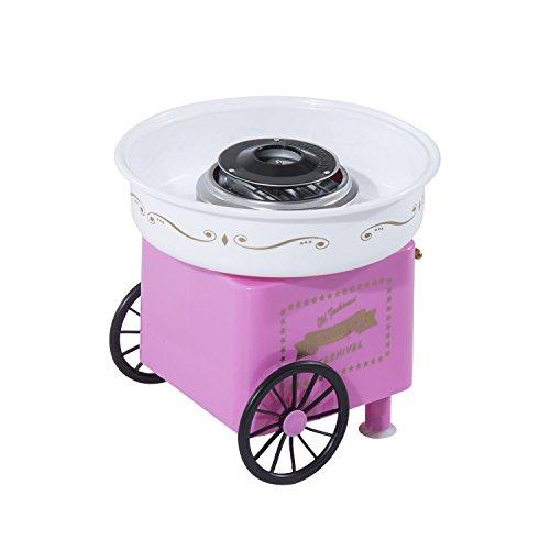 Homcom 800-018 Zuckerwattemaschine, Plastik, rosa, 30 x 30 x 28 cm