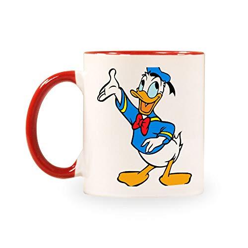 TANGGOOD Lustiger Kaffee Milch Tee Keramiktassen Morgen Tasse Getränke und Hochzeiten, Geburtstage, Vatertag ohne Löffel und Teller Donald Duck
