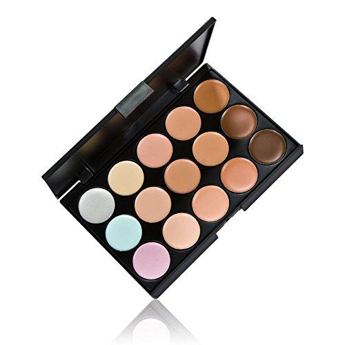 Anself 15 colores Paleta correctores cara ojos crema