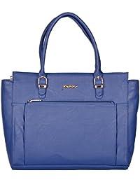 Perwin Women's Handbag (Blue, 27 ( Front Zip ))
