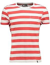 YOURTURN T-Shirt Herren gestreift in Grau, Rot o. Blau – Kurzarmshirt im  maritimen Streifen Look – Herrenshirt… 59c4d63e4a