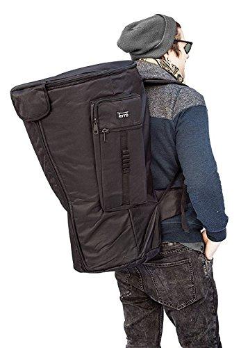 Djembetasche Deluxe XXL Trommel Schutz wasserdicht gepolstert Rucksack Komfort Trageriemen Rucksacktragesystem Seitentasche Fullsize Djembés