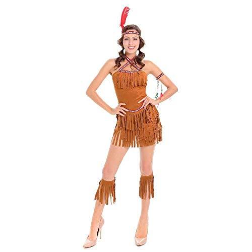 YyiHan Halloween Kostüm, Sexy gefransten indische Stamm Prinzessin Kostüm Rolle Spielen Kostüm Cosplay Make-up Halloween-Parteikostüm (Kostüm Der Indischen Stämme)