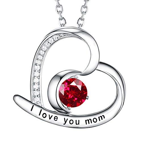 Dorella 925 S Argent sterling Forme rond brillant Rouge Rubis