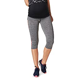 Noppies 66509-C246 Women's Fenna Grey Melange Maternity Sports Pant XS/S