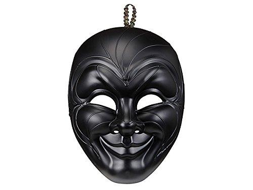 Widmann 04718 - maschera veneziana gran gala uomo sorridente, nero, taglia unica