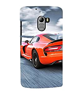 Vizagbeats sports car red Back Case Cover for Lenovo K4 Note