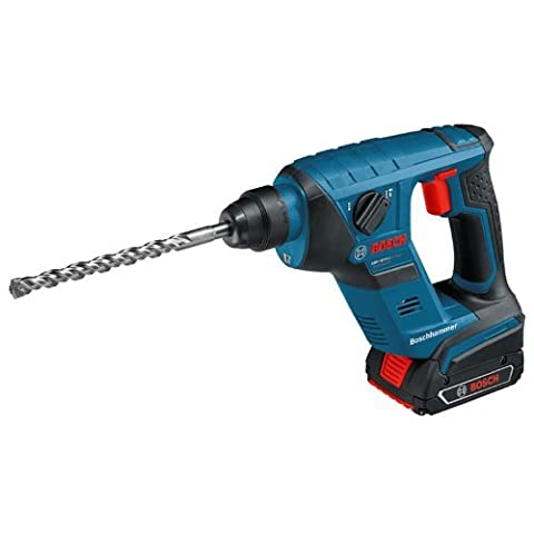 Bosch Professional GBH18VLICP 18V Cordless Li-Ion Compact SDS Plus Hammer Drill with 2 x 1.5Ah Batteries in L-Boxx by Bosch Professional