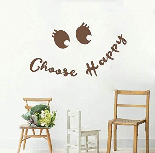 Scegli adesivi murali felici faccia buffa decalcomanie art design murale vita moderna ufficio palestra bar negozio arredamento in vinile 75 * 42 cm