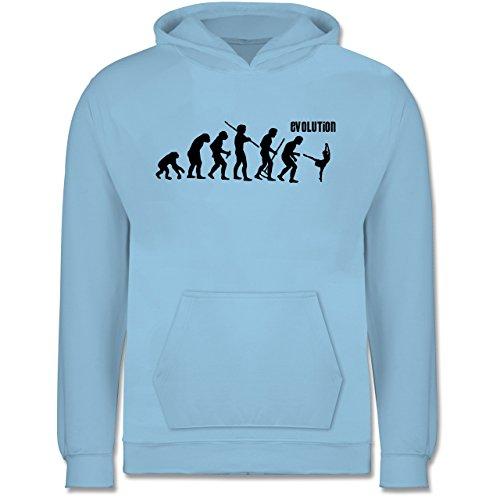 (Shirtracer Evolution Kind - Modern Dance Evolution - 9-11 Jahre (140) - Hellblau - JH001K - Kinder Hoodie)