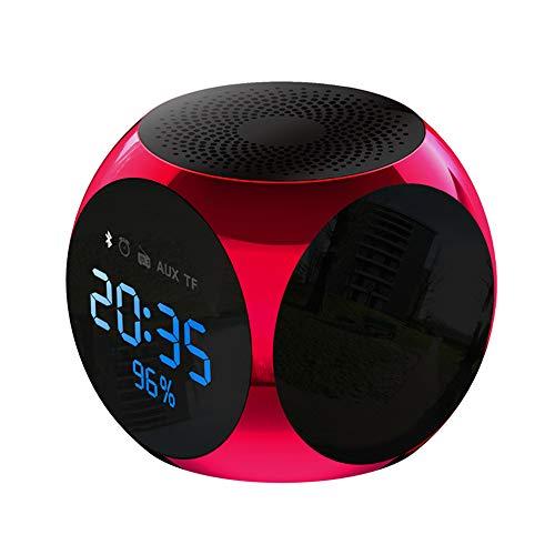 ZXYWW Drahtloser Bluetooth-Lautsprecher, Mini-Subwoofer Für Den Außenbereich, Audio Universal Radio Charging Portable Voice Car Broadcaster,Red
