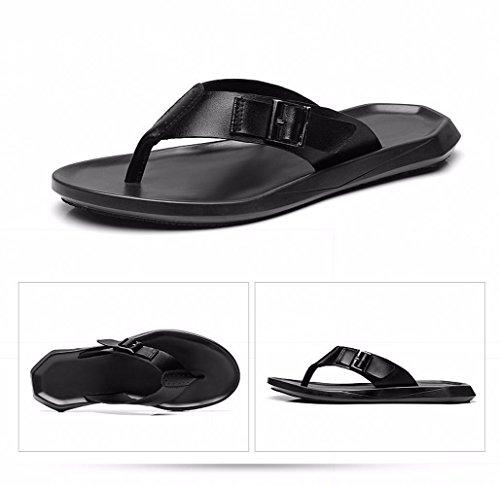 Tongs d'été pour hommes sandales sandales orteil d'usure XXCWN Black