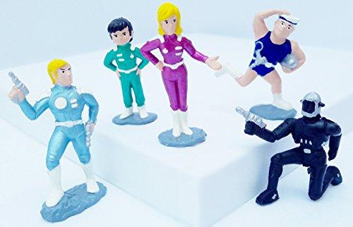 N.N. 5-teiliges CAPTAIN FUTURE Bootleg Figurenset: Captain Future, Greg, Otto, Joan und Ken