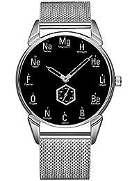 Reloj Impermeable al Agua de la Personalidad Minimalista Reloj 145. Elementos químicos Divertidos