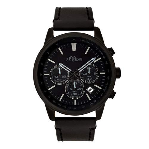 s.Oliver SO-3685-LC Montre chronographe pour Homme