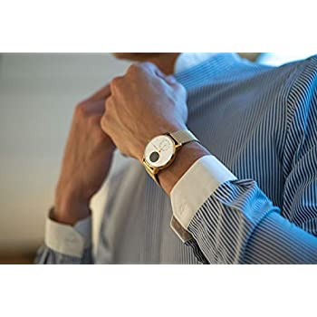 Withings Steel HR Hybrid Smartwatch - Fitness watch with heart rate and activity measurement, 36mm - Limited Edition, gold bracelet