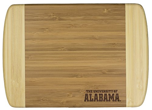 Totally Bamboo Hana Cutting and Serving Board, Laser Etched with University of Alabama Logo, 10