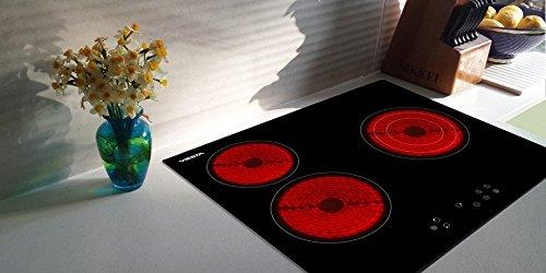 Viesta C3Z hochwertiges Glaskeramikkochfeld mit Überhitzungsschutz und 9 Kochstufen - Glaskeramikfeld mit Sensor-Touch-Display - Kochfeld Autark