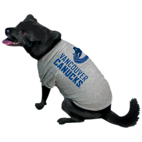 uver Canucks Pet T-Shirt, Team Color (Hockey-mädchen-kostüm)