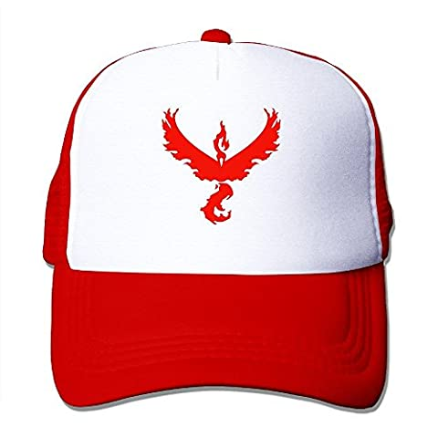 Hittings Fashion All Pokemon GO Team Logos Team Valor Cutout No Outside Adult Nylon Adjustable Mesh Hat Mesh Cap Black One Size Fits Most Red