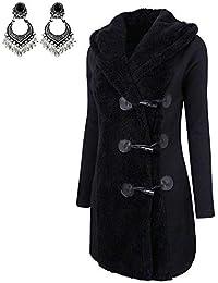 Donne Moda Inverno più di Spessore Caldo Pulsanti Cappotto Cappotto Eskimo  Felpa con Cappuccio Outwear Abbigliamento bc7f2733320