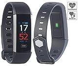 Newgen Medicals Fitnessband: Fitness-Armband mit Farbdisplay, Blutdruck-Anzeige, Bluetooth, IP67 (Smartwatch Blutdruck)