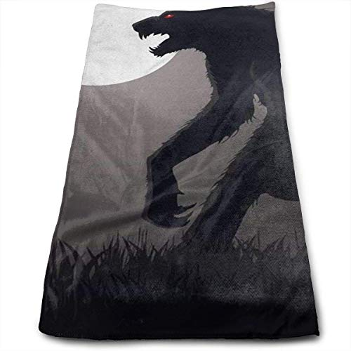 DAICHAI Lurking Werewolf Bath Towels for Bathroom-Hotel-Spa-Kitchen-Set - Circlet Egyptian Cotton - Highly Absorbent Hotel Quality Towels