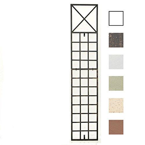 Clp graticcio per piante rampicanti trigo in ferro | graticolato per piante 198 x 40 cm |traliccio per rampicanti da fissare alla parete | griglia per piante rampicanti da giardino bronzo