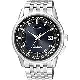 Citizen–Reloj de pulsera para hombre radio Controlled analógico de cuarzo Acero inoxidable CB0150–62L