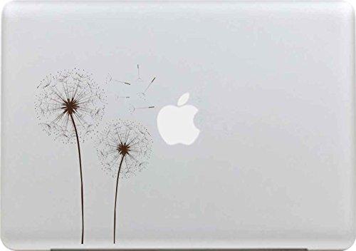 48 - Sticker Adhesivos para Macbook, Desprendibles Creativo Negro Art Calcomanía Pegatina MacBook Pro/Air 13 Pulgadas Portátil (Diente de león)