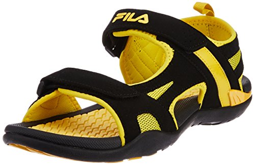 Fila Men's Energy Black and Yellow  Sandals and Floaters -9 UK/India (43 EU)  available at amazon for Rs.1099