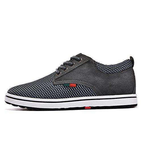 Miyoopark , Chaussures de ville à lacets pour homme Gris