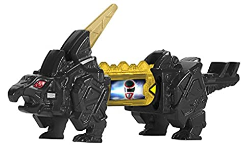 Power Rangers : Dino Super Charge – Stego Zord Noir – Pack de 2 Dino Chargers + 1 Mini Zord