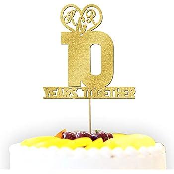 /nimporte quelle couleur//inscription///Âge//occasion personnalis/é TogetherWe Still Do 40/ans anniversaire de mariage Couple Paillettes pour g/âteau de mariage D/écoration/
